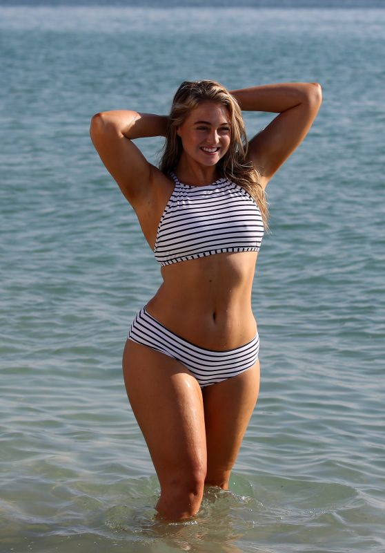 Iskra Lawrence in Different Bikinis and Swimsuits  Photoshoot for Aerie, Miami Beach 11/26/2018