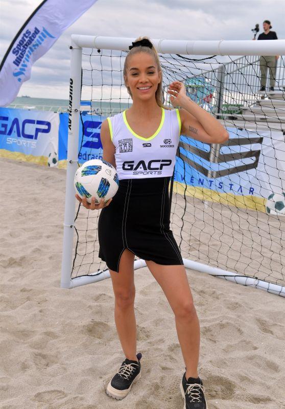 Jasmine Sanders – SI Swimsuit Soccer Event in Miami 11/17/2018