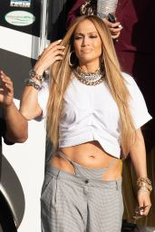 Jennifer Lopez - Shooting a Video in Miami 11/15/2018