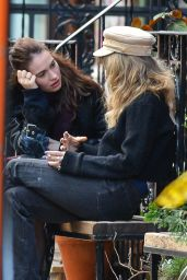 Juno Temple and Lily James in New York, November 2018