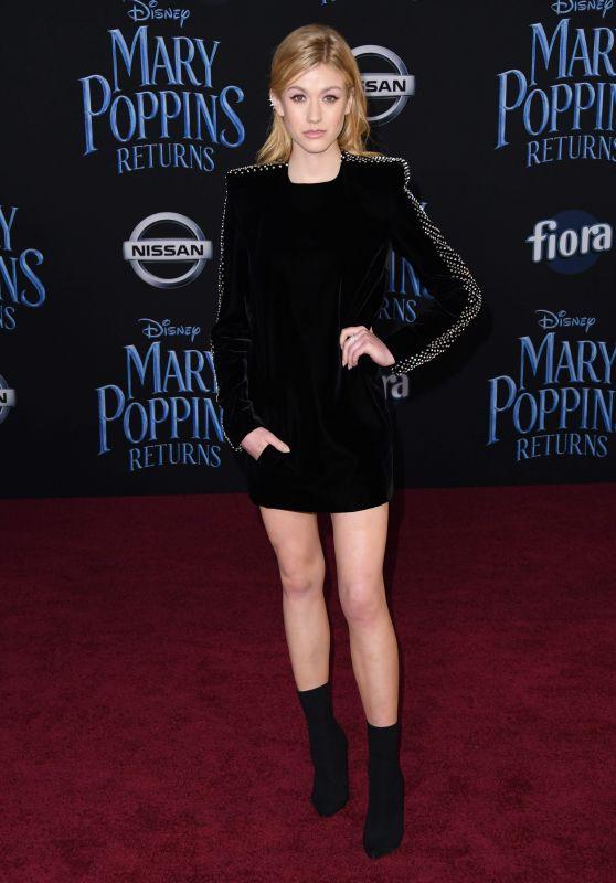 """Katherine McNamara – """"Mary Poppins Returns"""" Premiere in LA"""