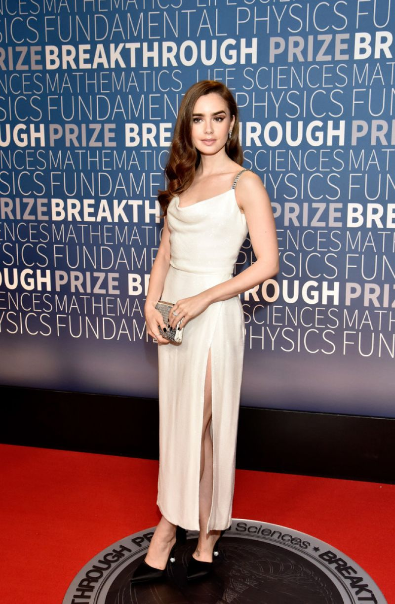 Lily Collins 2019 Breakthrough Prize In Mountain View