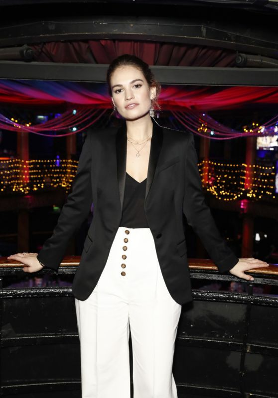 Lily James - National Youth Theatre Fundraising Evening in London 11/26/2018