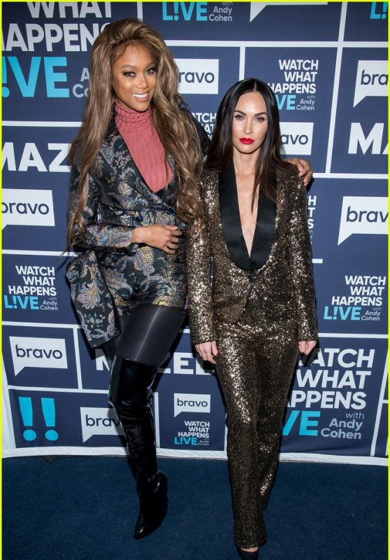 "Megan Fox and Tyra Banks - ""Watch What Happens Live"" in NYC 11/29/2018"