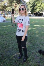 Mena Suvari - Anti-Fur Protest in Beverly Hills 11/23/2018