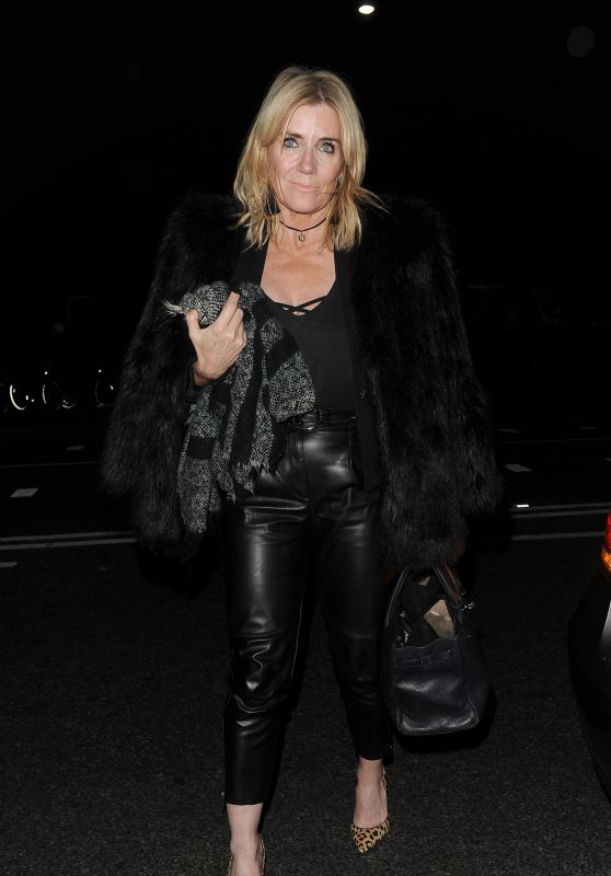 Michelle Collins – Arrives at Phil Turner 50th Birthday Party in London