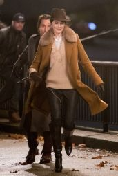 Michelle Dockery on the Banks of the Thames, Southbank 11/28/2018