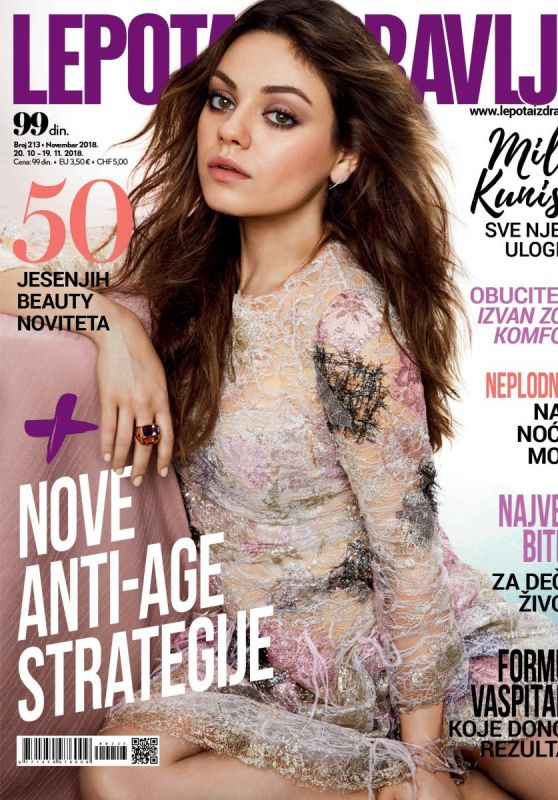 Mila Kunis - Lepota & Zdravlje Magazine Cover, November 2018
