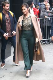 Minka Kelly at Good Morning America in NYC 11/01/2018