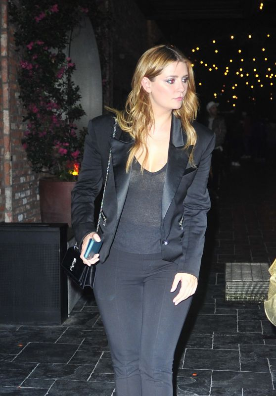 Mischa Barton in a Black Suit at TAO in Los Angeles 11/07/2018