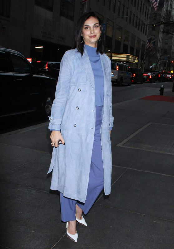Morena Baccarin - Arriving at NBC