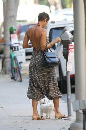 Nicole Murphy in Low Cut Summer Dress in Beverly Hills 11/08/2018