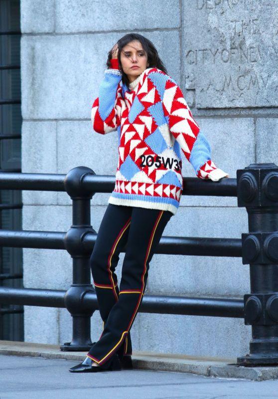 Nina Dobrev - Photoshoot in NYC 11/03/2018