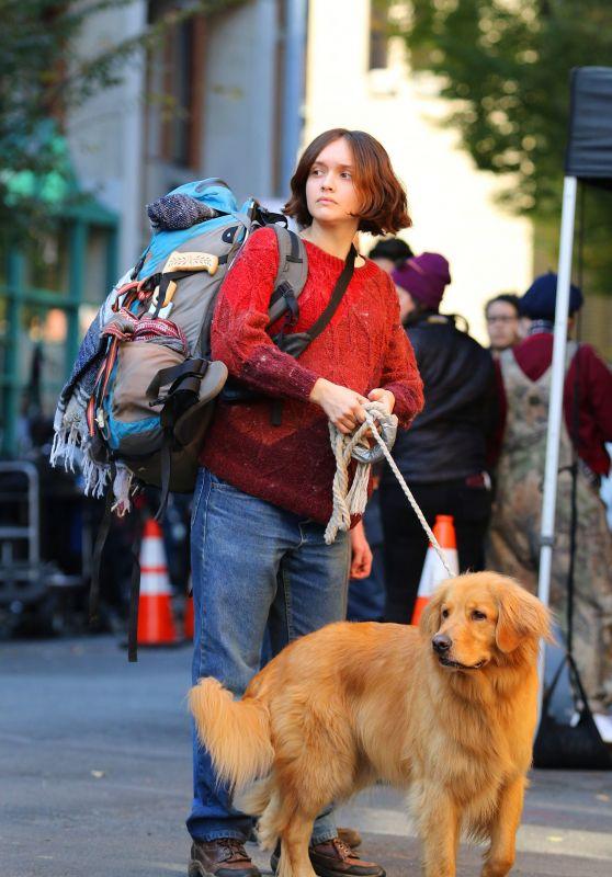 "Olivia Cooke - Filming ""Modern Love"" in NYC 11/02/2018"