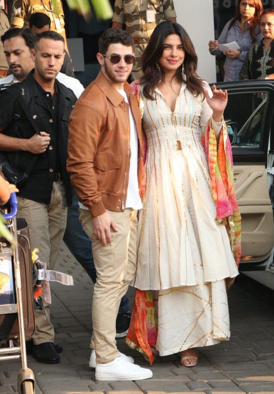 Priyanka Chopra and Nick Jonas at the Mumbai Airport 11/28/2018