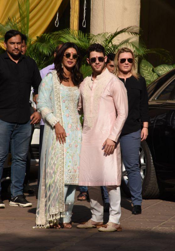 Priyanka Chopra and Nick Jonas - Wedding Celebrations in Mumbai 11/28/2018