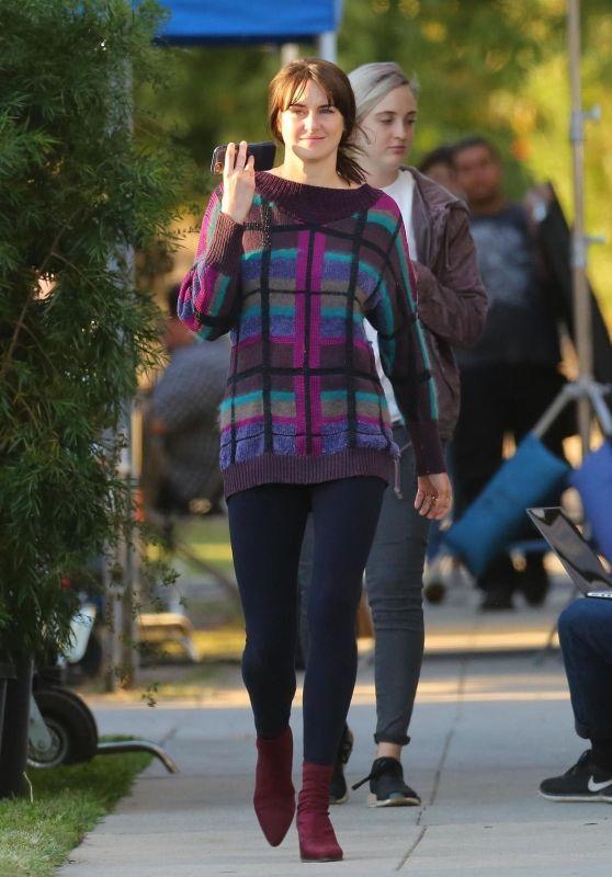 Shailene Woodley - Drake Doremus Movie Set in LA 11/27/2018