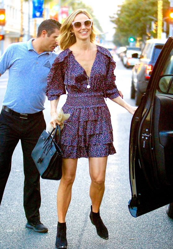 Stacy Keibler in Mini Dress - Beverly Hills 11/16/2018