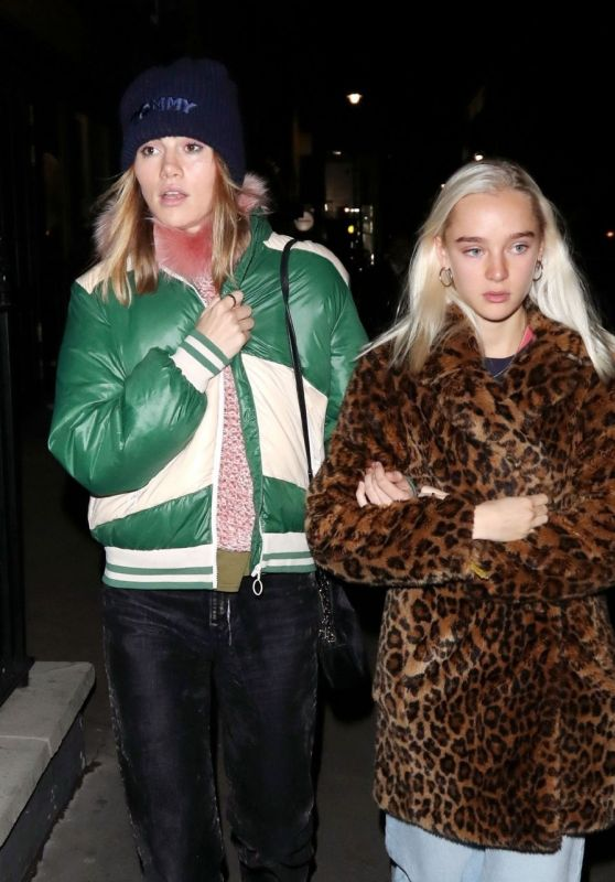 Suki Waterhouse and Her Sister at the Mandrake Hotel in London 11/21/2018