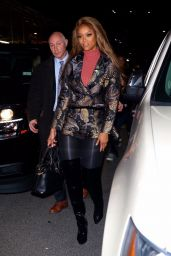 Tyra Banks in Stylish Short Suit 11/29/2018