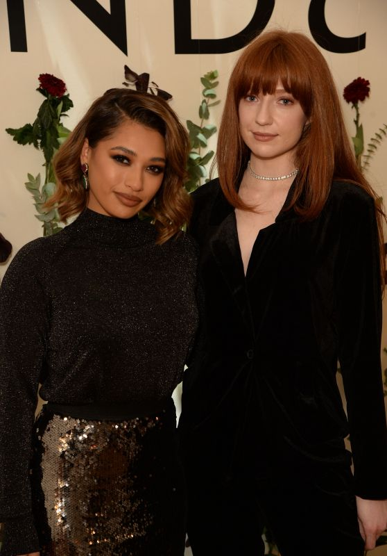 Vanessa White and Nicola Roberts - Intimate Dinner for Lindex in London 11/22/2018