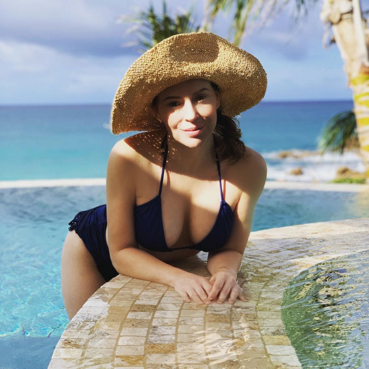 Alyssa Milano In Bikini Personal Pics 12 04 2018