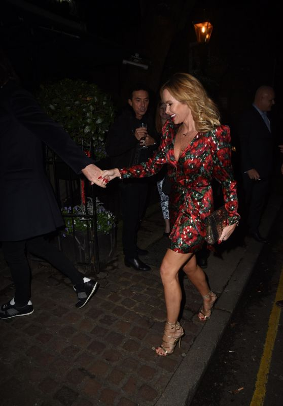 Amanda Holden at Piers Morgans Christmas Party in London