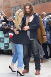 Amber Heard and Jason Momoa – Outside the BUILD Series Studio in New York 12/03/2018