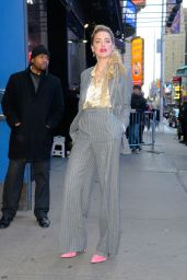 Amber Heard - Arriving at GMA Studios in NYC 12/05/2018