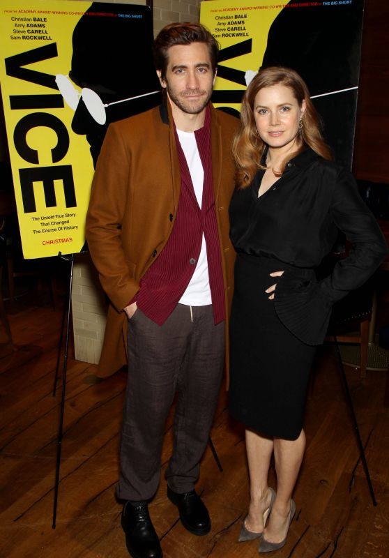 "Amy Adams and Jake Gyllenhaal - New York Special Reception for ""VICE"""