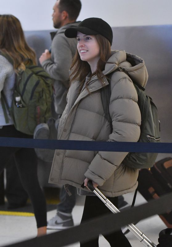 Anna Kendrick at LAX in Los Angeles 12/28/2018