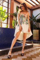 Blanca Blanco in a Floral Print Dress - Photoshoot in Morocco 11/30/2018