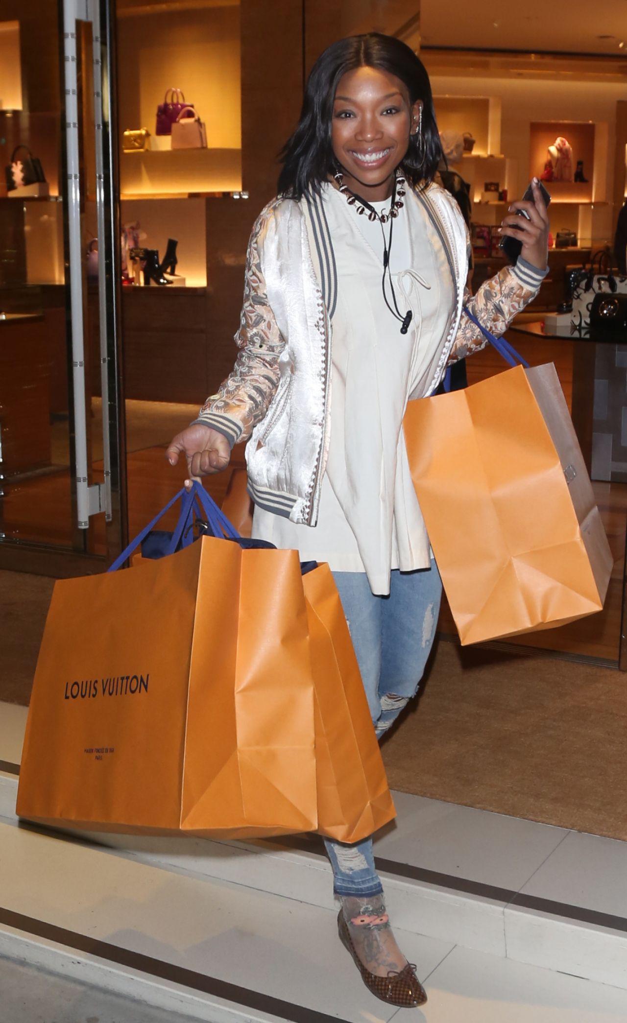 Brandy Norwood Shopping In Beverly Hills 12 11 2018