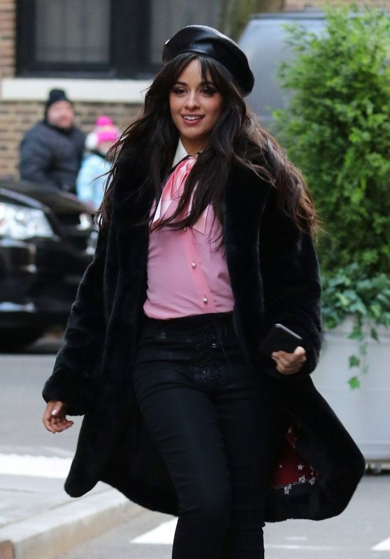 Camila Cabello - Filming a MasterCard Commercial in NYC 12/06/2018