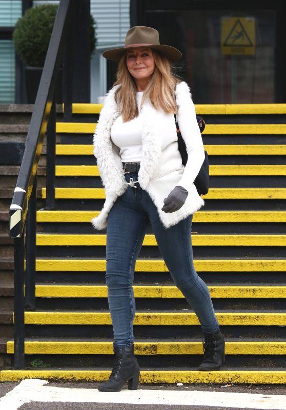 Carol Vorderman - Leaving The BBC Studios In Cardiff 12/24/2018