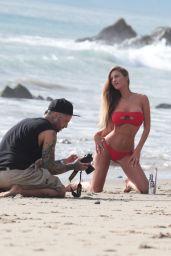 Charlie Riina in a Red Bikini 12/25/2018