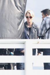 Charlize Theron - Coffe Break in Set of New Film in Mailibu 12/12/2018