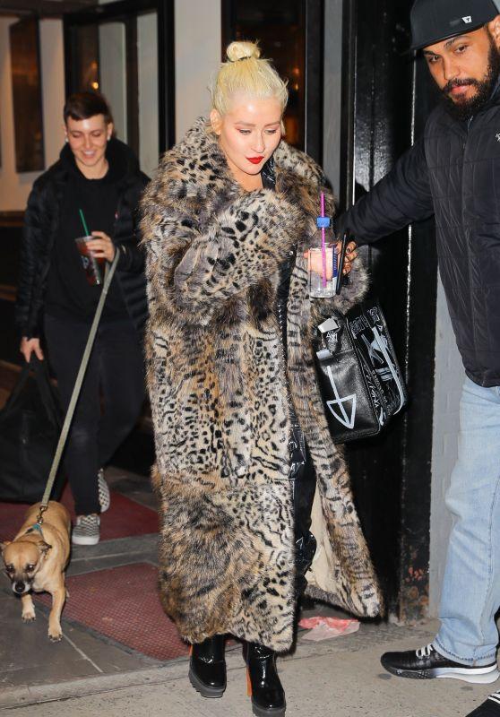 Christina Aguilera - Exits a NYE Rehearsal in NYC 12/30/2018