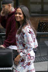 Christina Milian - Arrives at Universal City Walk 12/05/2018
