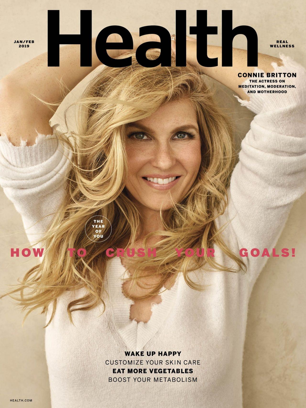 Connie Britton Health Magazine Jan Feb 2019
