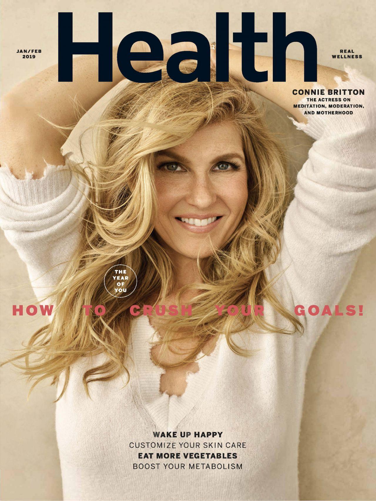 Connie Britton Health Magazine Jan Feb 2019 Issue