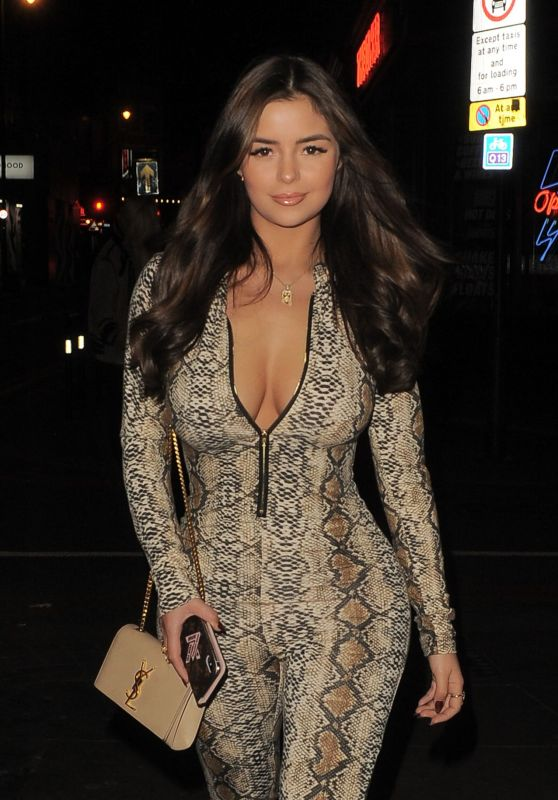 Demi Rose Night Out Style - London 12/30/2018