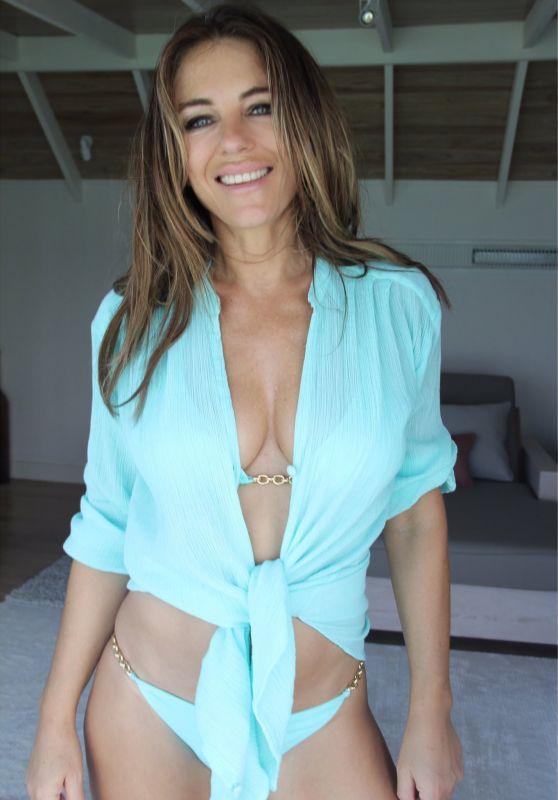 Elizabeth Hurley in Bikini - Personal Pics 12/18/2018
