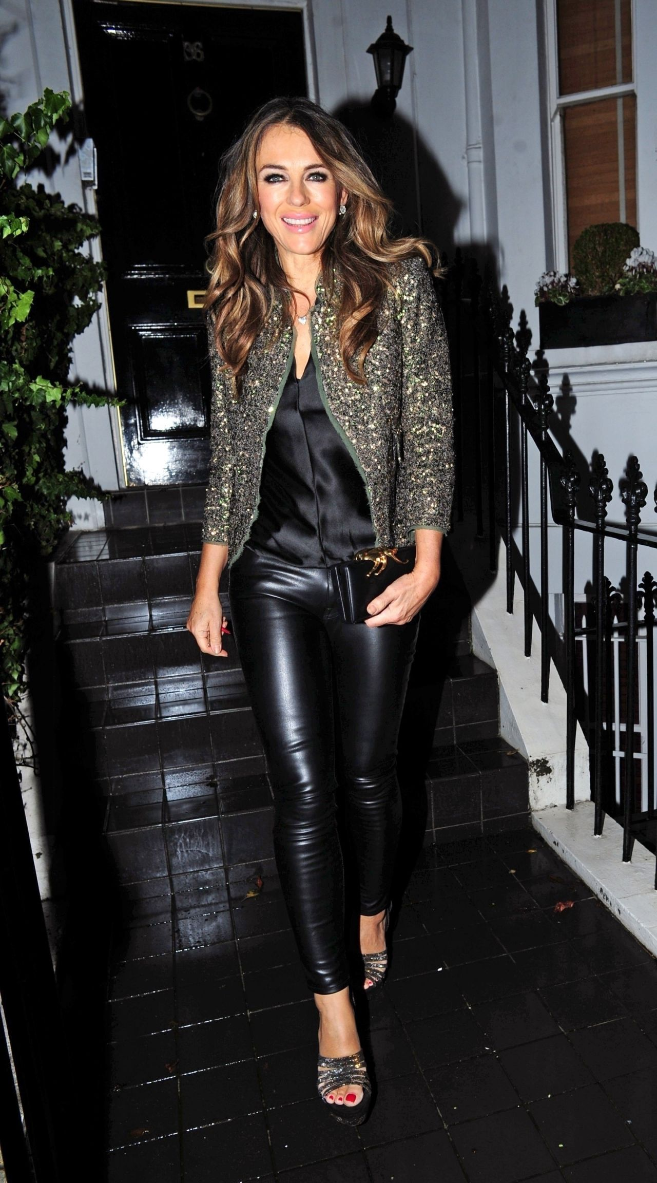 Elizabeth Hurley Night Out Style 12 05 2018
