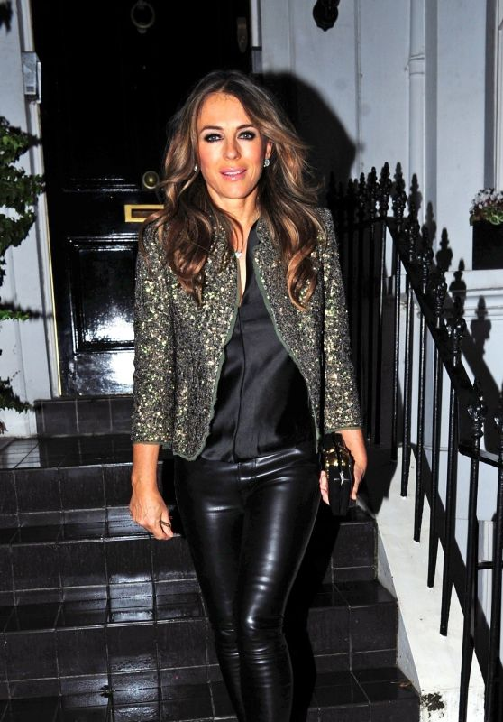 Elizabeth Hurley Night Out Style 12/05/2018