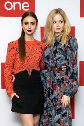 """Ellie Bamber and Lily Collins – """"Les Miserables"""" Photocall in London"""