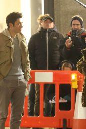 "Emilia Clarke and Henry Golding - ""Last Christmas"" Set on Regent Street in London 12/13/2018"