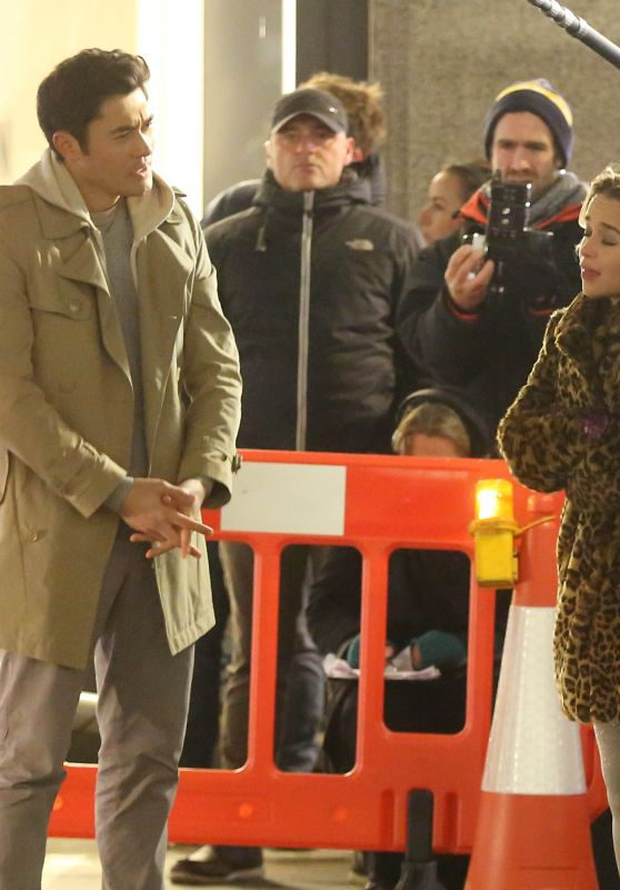 "Emilia Clarke and Henry Golding - ""Last Christmas"" Set on Regent Street in London 12/13/2018"