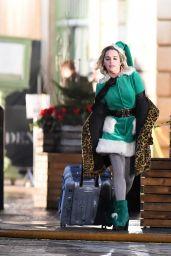 "Emilia Clarke - Filming ""Last Christmas"" in London 12/04/2018"