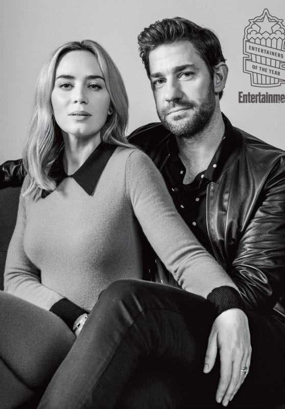 Emily Blunt and John Krasinski - Entertainment Weekly December 2018